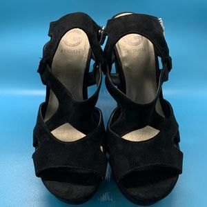 G by Guess black platform sandals